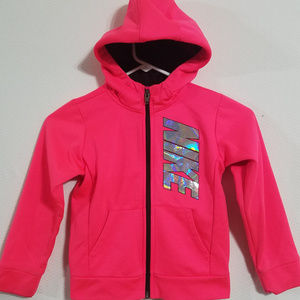 2/$40 Nike Girls Holographic 6X 6 /7 Pink Hoodie